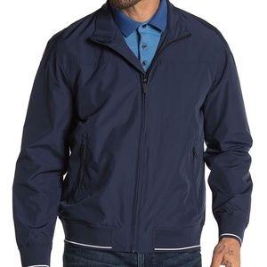 Perry Ellis Water Resistant Zip Rain Jacket Coat